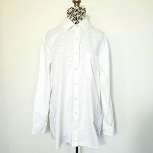 Michael Kors White Long Sleeve Button Down Shirt
